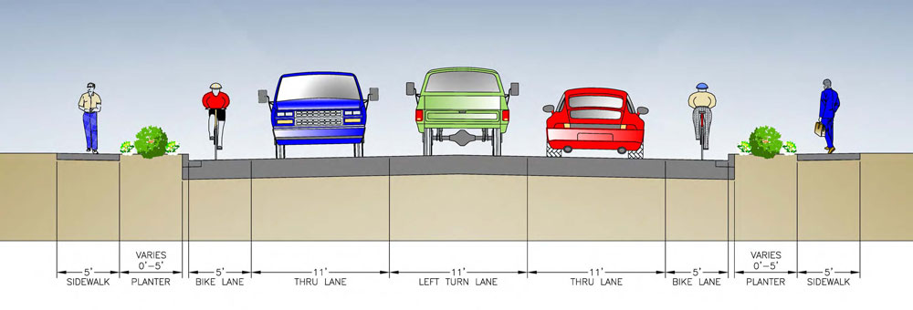 35th Avenue SE will be widened to accommodate a continuous center turn lane. Image courtesy of Snohomish County.