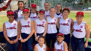 Mill Creek's majors division softball team won their first West Region Tournament game 3-1 over Southern California in San Bernardino on Sunday, July 21, 2019.