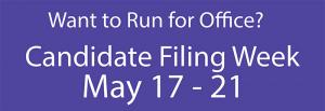 Snohomish County candidate filing begins at 9:00 amon Monday, May 17th for the 2021 ballot.  178 offices are available for filing including five Mill Creek City Council positions, three county council positions, and a number of other important offices.