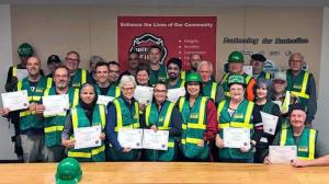 Twenty-three students completed Community Emergency Response Team (CERT) training at South County Fire to learn how to help in a major disaster on September 22, 2019.