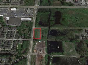 Aerial map showing location of new townhome neighborhood. Image courtesy of City of Mill Creek.