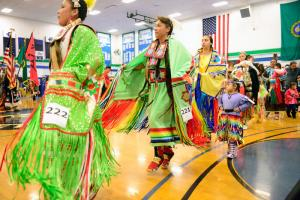 2016 Edmonds Community College Pow Wow participants. Photo courtesy of Edmonds Community College.