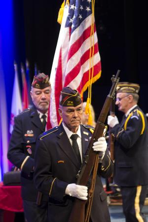 Edmonds Community College will host its sixth annual Veterans Day Celebration on Wednesday, November 7, 2018, on campus in the Black Box Theatre. This will be a special event to recognize WWI veterans on the 100-year anniversary of the war's end.