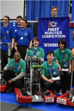 Jackson High School's Team 2910 Jack In The Bot took first place at the FIRST robotics district competition in Mt. Vernon on March 1st through 3rd, 2019. Out of the 34 teams who competed, Jack In The Bot was ranked first in this competitive field.