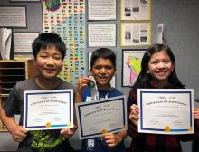 Having placed first at the classroom and first in the regional competition, Mill Creek Elementary School student Sorin Bulgannawar advances to the Washington State National Geographic GeoBee competition to be held on March 27, 2020.