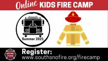 South County Fire is offering a free online Kids Fire Camp featuring fun activities for families to do at home. The camp includes hands-on activities to do as a family focusing on fire safety, disaster preparedness, bike safety, and pedestrian safety.