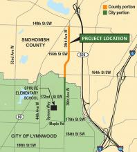 One of Snohomish County's major road projects in the Alderwood Mall area, the 36th/35th Avenue W Improvements Project just outside Lynnwood city limits, has received a major boost in funding with a $3 million loan from the Washington State Public Works Board.