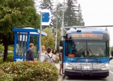 On Labor Day, Monday, September2nd,Community Transit will operate a Sunday bus schedule. Labor Day is also the last day of the Evergreen State Fair and there will be extra late trips running after the fair closes.