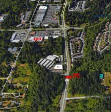 Aerial view of proposed development site. Photo courtesy of the City of Mill Creek.