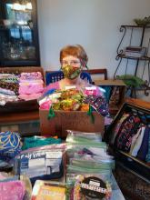 April Guentz, a longtime volunteer at the Community Care Garden and the Mill Creek Community Food Bank, (both programs are operated by the Hope Creek Charitable Foundation), would like to provide a packet of five masks to every child whose family is served by our local Mill Creek Community Food Bank.
