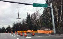 Swift Green Line Bus Station Construction on Bothell-Everett Highway and Trillium Boulevard southbound in Mill Creek. Photo courtesy of Community Transit.