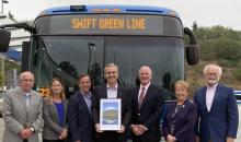 Community Transit recently won a 2019 VISION 2040 Award from the Puget Sound Regional Council (PSRC)for the newSwift Green Line rapid bus line. Thisawardrecognizes innovative projects and programs that help ensure a sustainable future as the region grows.