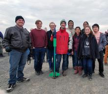 Edmonds Community College Rocketry Society members joined other rocket enthusiasts from Central Washington University and the Tri-Cities Rocketeers for a high-powered launch near Pasco, Washington, on November 9th.