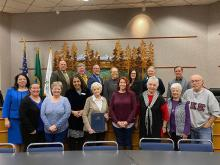 At their regular October 22, 2019, meeting, the Mill Creek City Council honoredthe Friends of the Mill Creek Library for their work in support of the Mill Creek Library.The nonprofit organization's volunteers plan Mill Creek Library programs, library grants, and library furnishings.