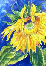 """Mill Creek Garden Club proudly unveils """"Garden Gold"""" as the face of the 2020 Mill Creek Garden Tour & Artisan Market scheduled for June 27th. The eye-catching sunflower is the work of M. Dianne Astrof, a Charter Member of Garden Club who passed away suddenly in May2019."""
