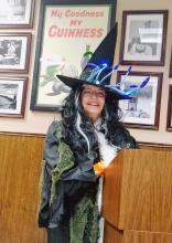 "A little Halloween sorcery crept into Shawn O'Donnell's Grill & Pub at the recent Mill Creek Garden Club meeting when President Lyndal Kennedy, known for her creativity and sense of humor, surprised the group by materializing as an enchanted ""garden witch."""