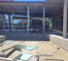 Front doors of Glacier Peak High School. Photo courtesy of Snohomish County Sheriff's Office.
