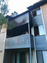 Two men were injured in an early morning fire that displaced 16 residents at an apartment complex in the Mariner neighborhood south of Everett. Firefighters and EMTs from multiple fire agencies responded to the Sunday, May 16, 2021, 911 calls.