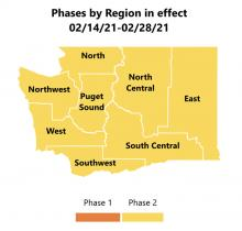 All Washington State regions have moved toPhase 2 Covid restrictions as of Tuesday, February 16th. The next update will be provided on Thursday February 25th.