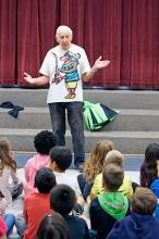 Jack LaPoint at Mill Creek Elementary School. Photo courtesy of Sno-Isle Libraries.