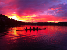 """As the largest lake in Snohomish County, Lake Stevens has come to be known as """"Snohomish County's place to Row."""" Image courtesy of Lake Stevens Rowing Club."""