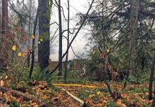 Residence where fire occurred and male's body was found. Photo courtesy of Snohomish County Sheriff's Office.