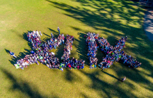 On Friday, January 30th, at 1:30 pm more than 600 Mill Creek Elementary School students gathered together to show their 12th Kid support for the Seattle Seahawks in Super Bowl XLIX against the New England Patriots.