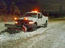 The city now has one only one four-wheel drive truck with a snow plow attachment to keep city streets clear of snow. The four-person maintenance staff made the best of it and worked many overtime hours, but this was entirely inadequate for last weekend's snow storm.