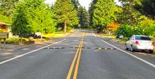 Speed bumps installed to deter detours through neighborhoods. Photo courtesy of the City of Mill Creek.