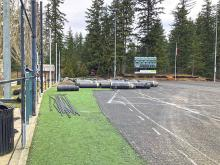 The old artificial turf and chain link fencing has been removed from the Mill Creek Sports Field in preparation for their replacement. The construction contractoris making an effortto stay on schedule and hopes to reopen the field as by late April, despite recent weather challenges.