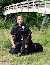 Having served as Mill Creek's certified tracking and drug-detection dog since 2017, K9 Officer Bagira was forced to retire from active duty in December 2019. The dog's retirement was forced by his increasing behavioral issues.