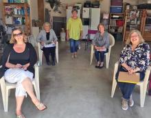 In a club known for its exuberant members, it must have been difficult for the outgoing Board of Mill Creek Garden Club to meet under the social distancing guidelines of Covid-19. But do it they did! These innovative women chatted about ways our great garden club could stay connected throughout the summer