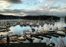 Roche Harbor view on San Juan Island.