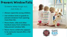 South County Fire is urging parents and caregivers of young children to take precautions as injuries from child window falls are nearing record-setting levels in Snohomish County. There have been at least 10 window falls in Snohomish County since April – including three in the last week.
