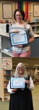 After a successful book sale at the North Creek Presbyterian Church, the Grant Committee of the Friends of the Mill Creek Library awarded grants to two local educators: Heatherwood Middle School Teacher/Librarian Sara Herber and Jackson High School Teacher Patricia Michaelle Frank.