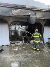 South County Fire responded to a three-alarm fire at a commercial building in Edmonds early Saturday morning, September 11, 2021. It took firefighters about 40 minutes to get the fire under control. No one was injured.