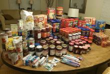 Perhaps from childhood memories, current cravings, or just to follow the guidelines of the Mill Creek Community Food Bank, Mill Creek Garden Club ran a members' September PB&J Drive which netted 120 jars of peanut butter and 50 jars of jam/jelly.