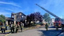 No one was injured in a two-alarm house fire that heavily damaged a two-story house in the Silver Firs neighborhood on Frilday morning, September 3rd.