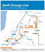 On Monday, April 5, 2021, U.S. Transportation Secretary Pete Buttigieg announced approval of a $37 million federal grant to fund Community Transit's Swift Orange Line project. This rapid transit bus line will connect McCollum Park Park & Ride and Edmonds College, traveling through Mill Creek.