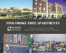 Indoor air quality can have significant impacts on your health. To help people living in multi-family complexes around Snohomish County breathe easier, the Snohomish Health District has developed maps and smoke-free rankings of apartments by city.