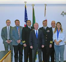 On Wednesday, April 10, 2019, the Snohomish County Council passed a resolution recognizing Naval Station Everett's 25th Anniversary and expressed their appreciation for the military and civilian personnel that work at the station.