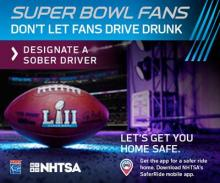 The Snohomish County DUI and Target Zero Task Force will be conducting DUI emphasis patrols on Super Bowl Sunday, February 4th, from 2:00 pm to 10:00 pm.