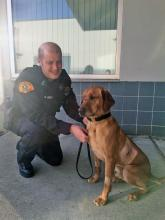 K9 Sonyi and Trooper Scott Legler. Photo courtesy of Washington State Patrol.