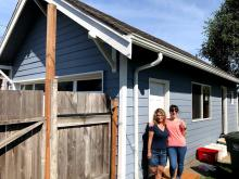 Peoria Home needed a new paint job for the space earmarked as office space, but volunteers from the Rotary Club of Mill Creek and Everett jumped in to completely renovate the space with new siding, roof, electrical, insulation, doors, wallboard, and paint.