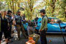 Z Nation cast and crew shooting near Index. Photo courtesy of The Asylum.